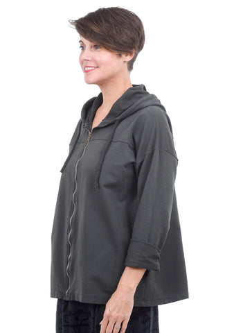 Oro Bonito Fleece Zip Hoodie, Charcoal One Size Charcoal