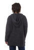 Barefoot Dreams Boucle Hooded Cardie, Carbon