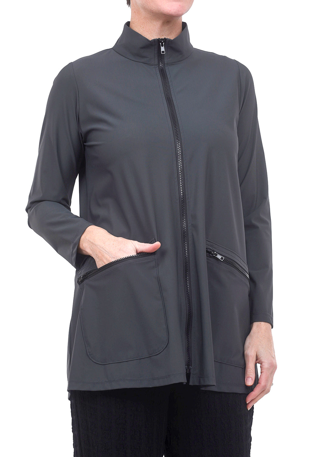 Jason by Comfy USA Selina Jacket, Slate