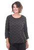 Cut Loose Leaf Jacquard A-Line Top, Pavement