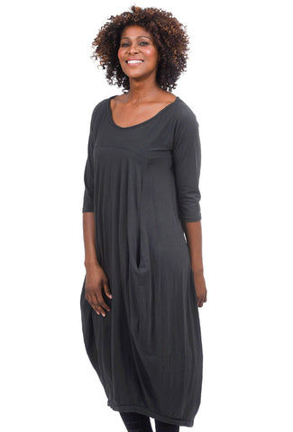 Oro Bonito Miss Bennett Dress, Charcoal One Size Charcoal