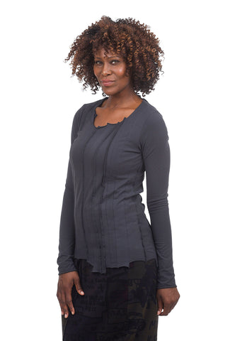 Rundholz Black Label Shapely Seamed Top, Dark Gray