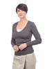 Prairie Underground Soft V Neck Top, Dior Gray