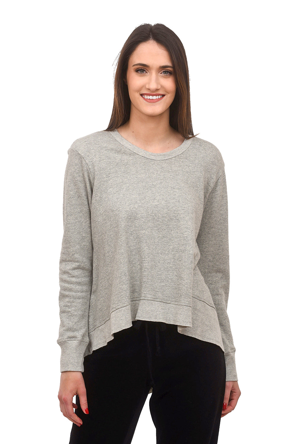 Wilt Heathered Backslant Sweatshirt, Gray