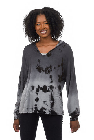 T-Party Lightweight Tie-Dye Hoodie, Gray