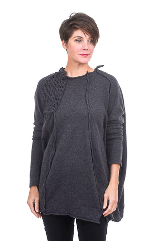 Rundholz Collection Hugs for All Cashmere Tunic, Anthra Gray