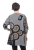 Mona Lisa Button-Tuck Tunic, Gray Print One Size Gray