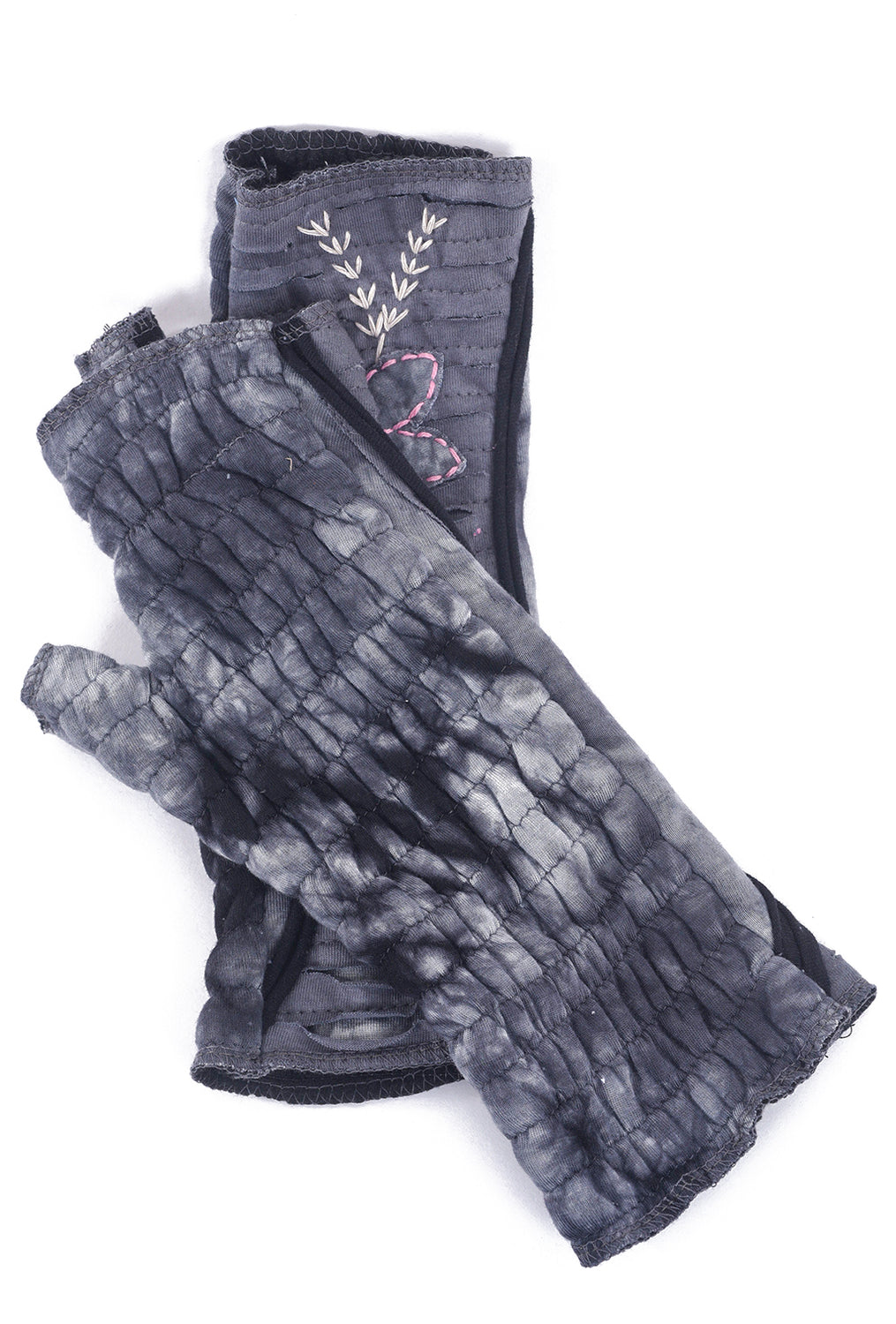 Windhorse Designs Embroidered Fleece Handwarmers, Gray One Size Gray