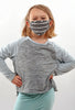 Coin1804 Kiddie Coin Face Mask, Gray Stripe