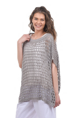 Planet Fishnet Layer Sweater, Ash One Size Ash