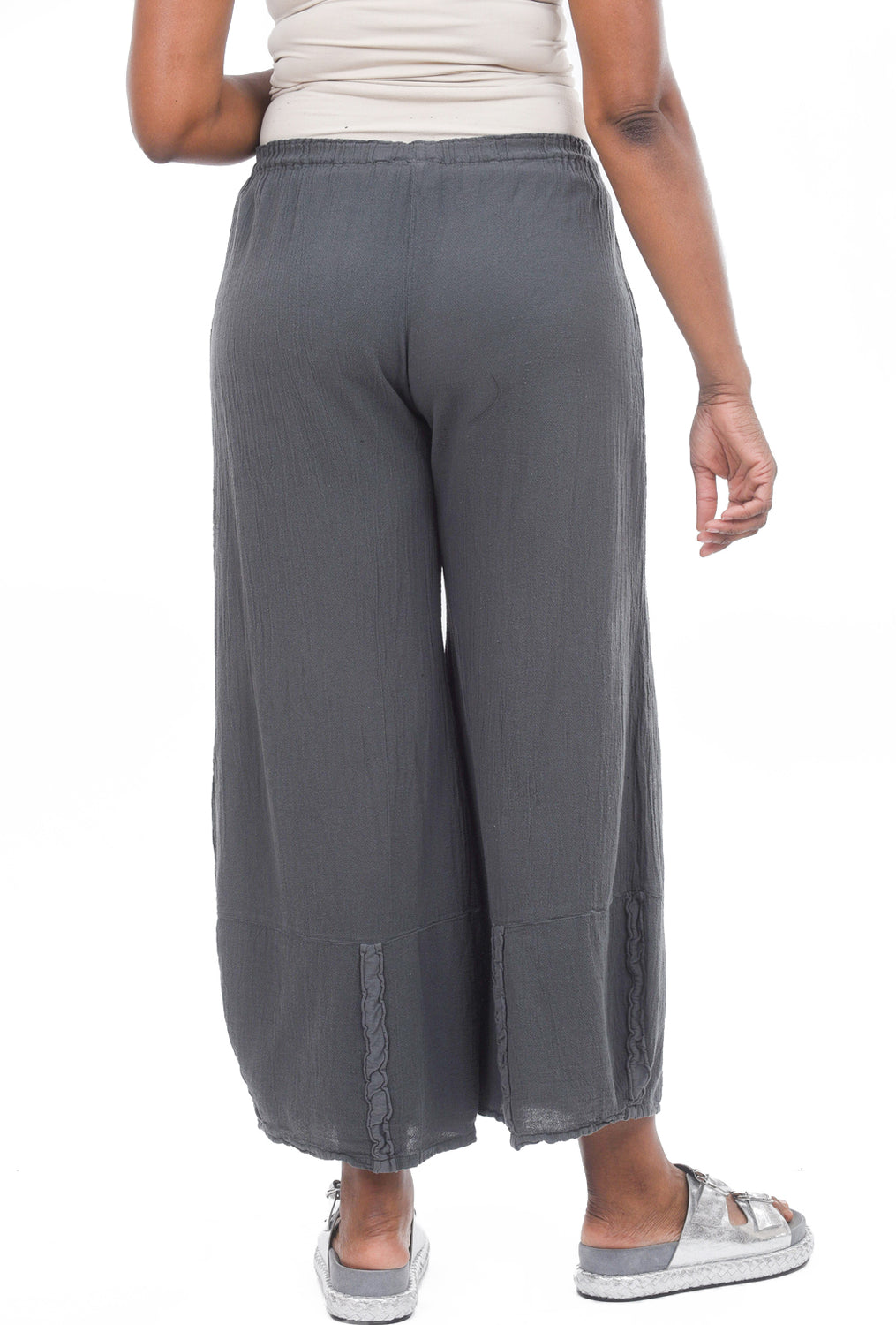 Oh My Gauze Honey Pants, Graphite Gray