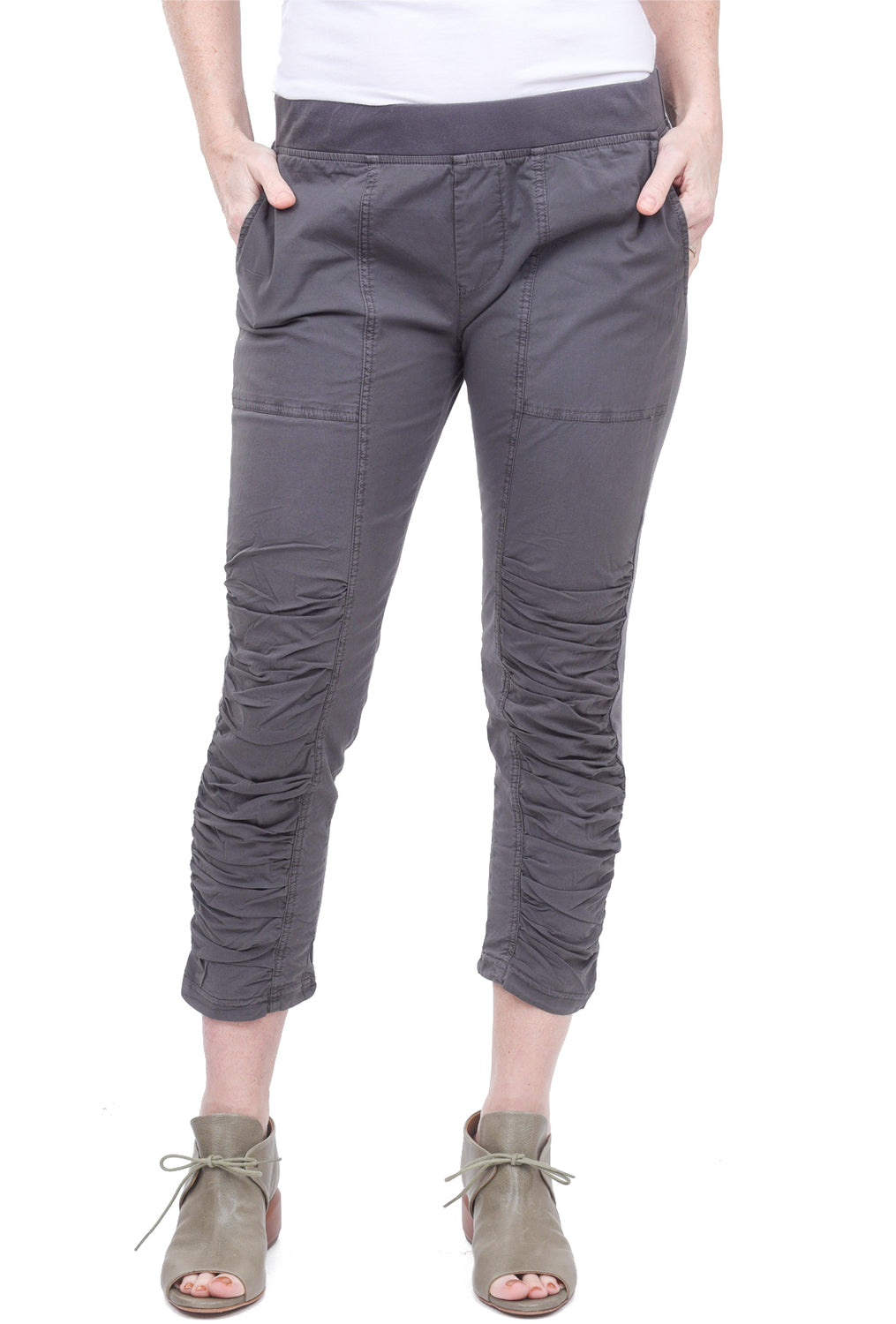 Wearables by XCVI Geyser Cropped Pants, Basalt Gray