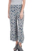 Cut Loose Ink Spot Cropped Jersey Pant, Overcast Gray