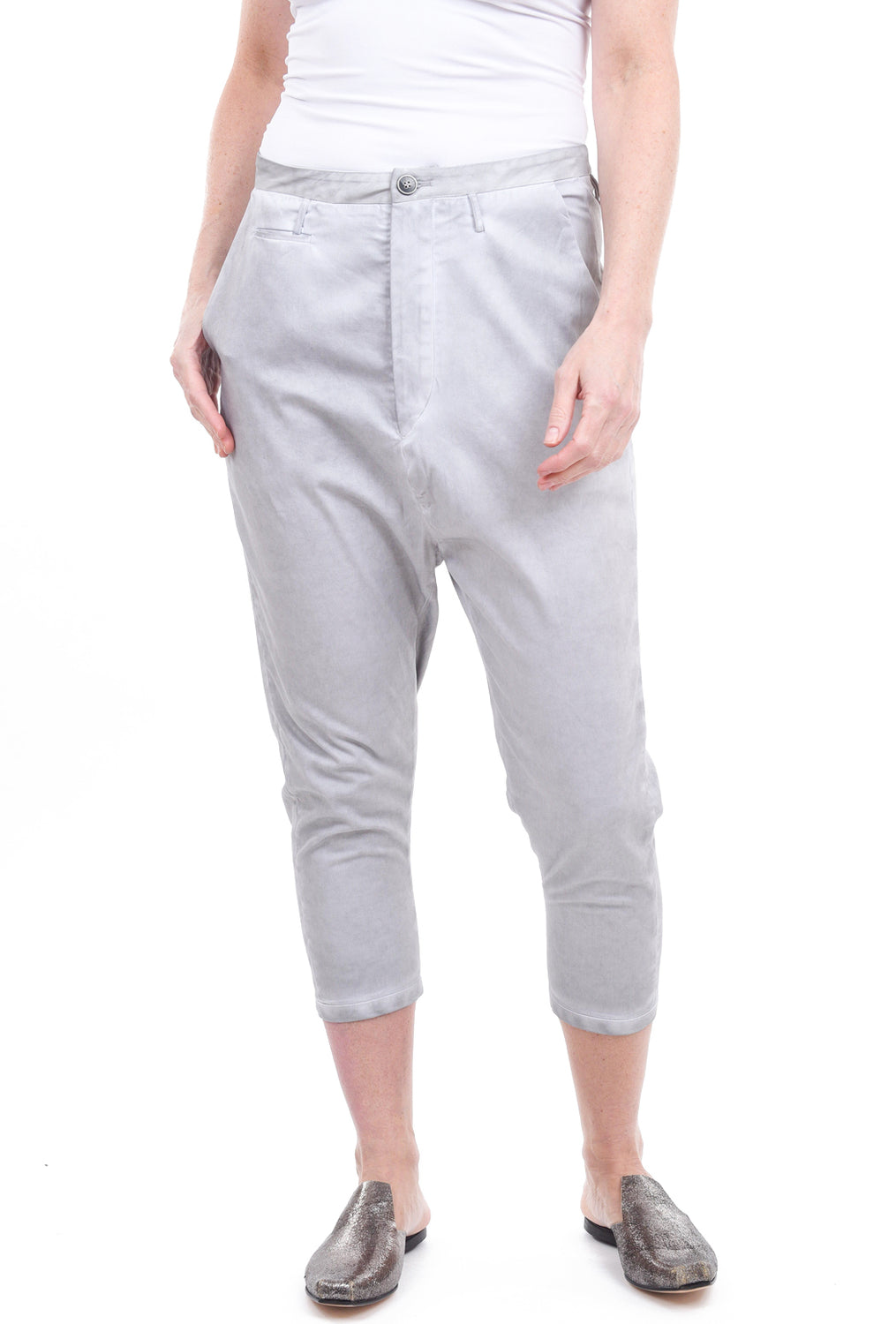 Umit Unal Extended Rise Chinos, Cement Gray