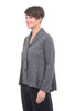 Comfy USA Ponte Carry Jacket, Gray Plaid