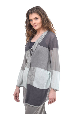 Ji-U Minty Fresh Cardigan, Gray