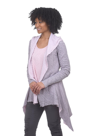 Cut Loose Crinkle Dot Hooded Jacket, Blossom Pink