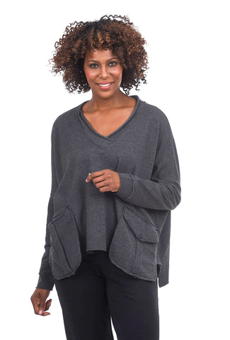 Planet French Terry Pocket Top, Asphalt One Size Asphalt