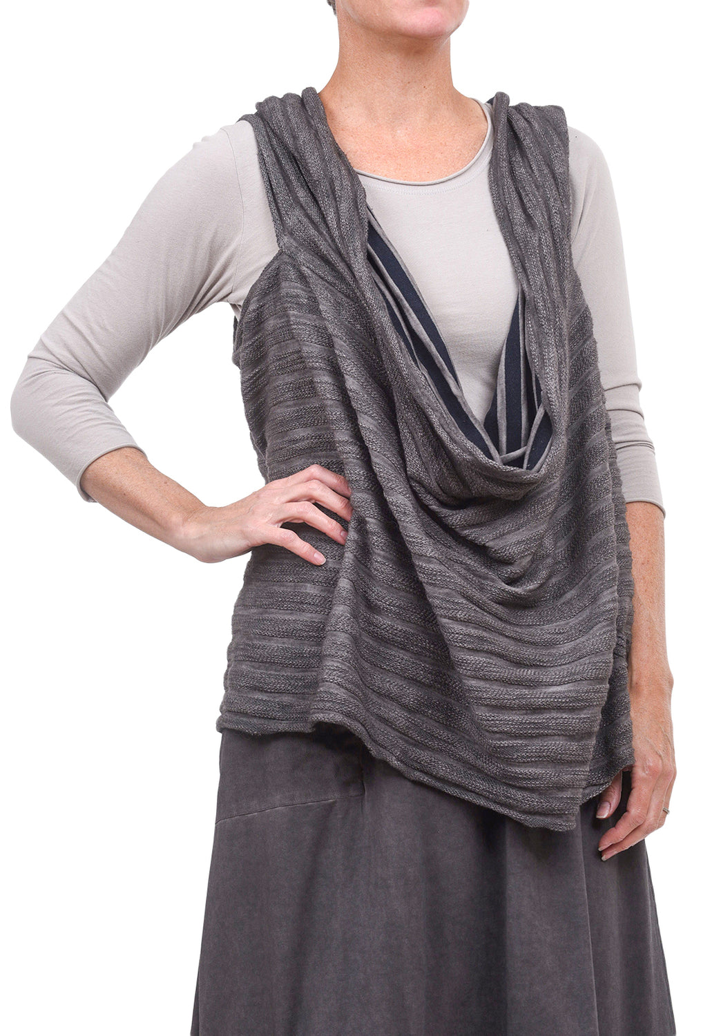 Luukaa Beverly Scarf Topper, Damson One Size Damson