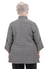 M Square Basketweave Slant Jacket, Gray