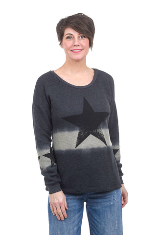 T Party Garment-Dye Star Top, Black