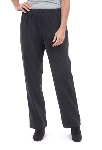 Christopher Calvin Herring Stripe Crepe Pants, Gray