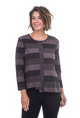 Habitat Clothing Chelsea Contrast Center Top, Graphite