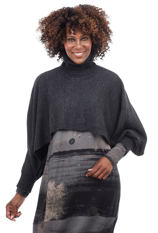 Crea Concept Funnel Layer Dolman Sweater, Gray