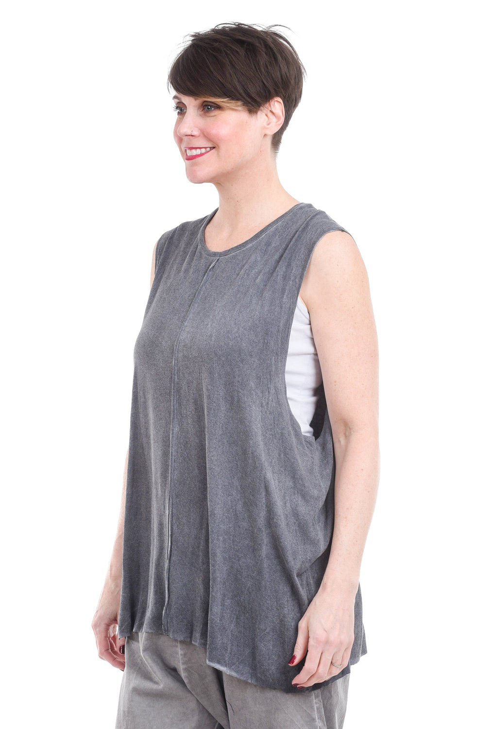 Umit Unal Dropped Arm Layer Top, Gray