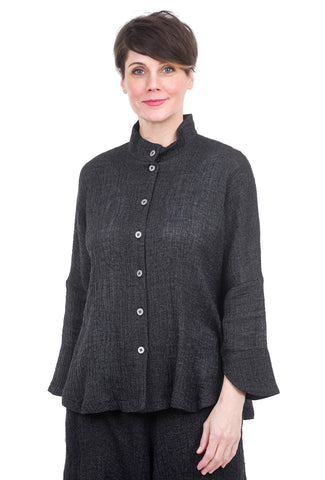 M Square Circular Linen Jacket, Night