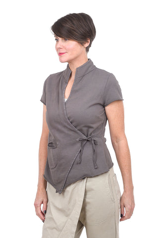 Prairie Underground Secret Language Wrap Top, Dior Gray