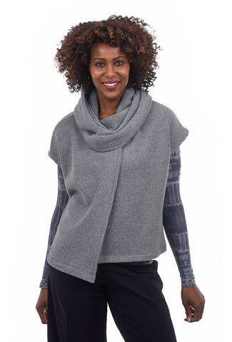 Veronique Miljkovitch Winter Knit Vest, Gray