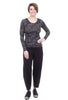 AMB Designs Autumn Grunge Crew Top, Black Pearl One Size Pearl