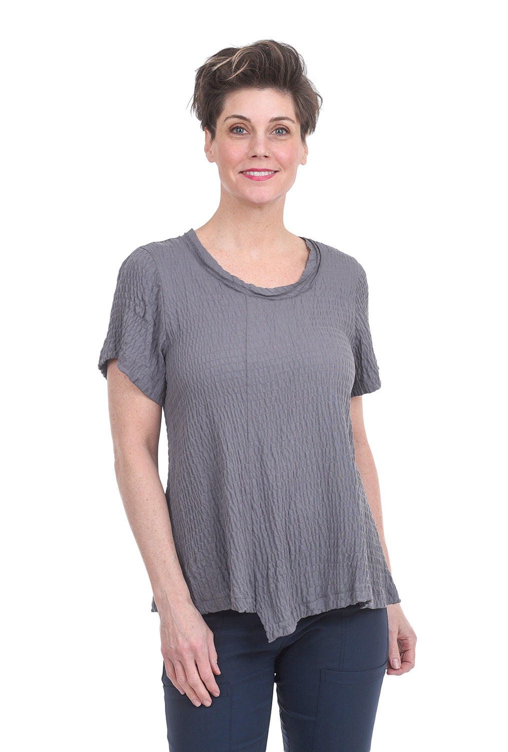 Porto Aztec Top, Opal Gray