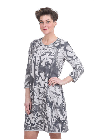 Grizas Jersey Knit Print Dress, Cool Taupe/Gray