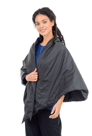 Kedziorek Puffer Cape, Black One Size Black