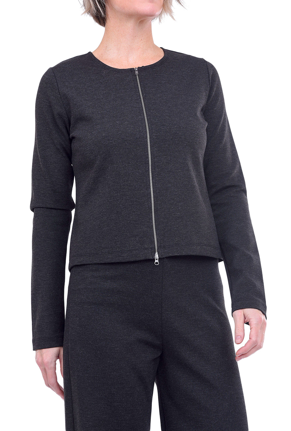 Bryn Walker Betz Zip Cardie, Gray