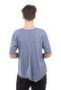 Wilt Deep V Elbow Mock Hem Tee, Indie Blue