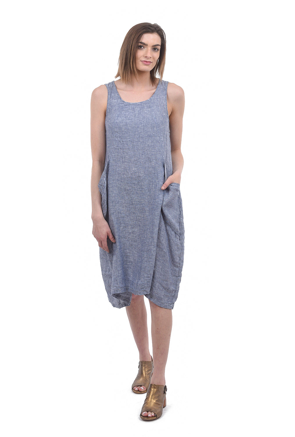 CP Shades Chambray Ruthie Dress, Blue