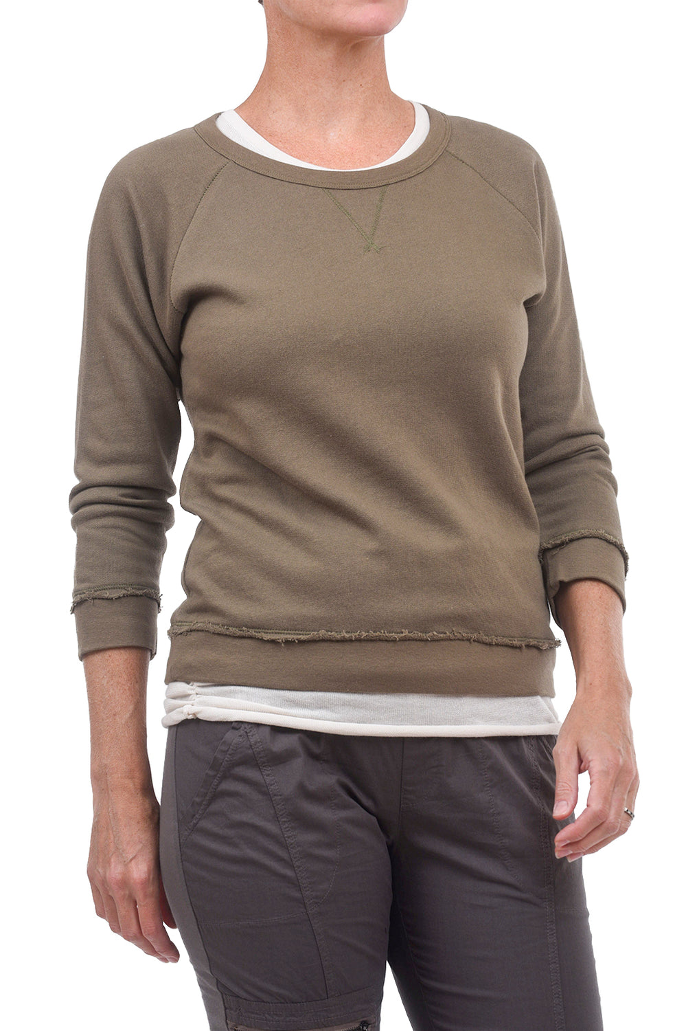 Lilla P FT 3/4-Sleeve Sweatshirt, Military
