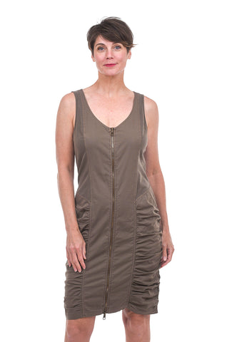 Wearables by XCVI Saltator Pigment-Dyed Dress, Chestnut Crux