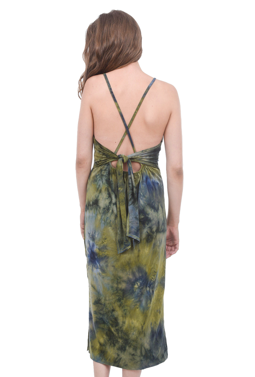 Coin1804 Sexy Softy Tie-Dye Dress, Olive