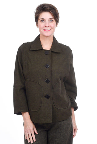 Moonlight Brushed Dolman Jacket, Olive