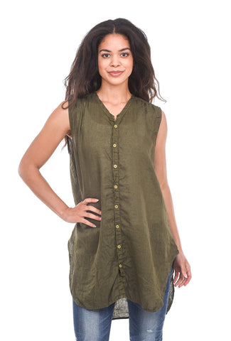 CP Shades Linen Karla Tunic, Army