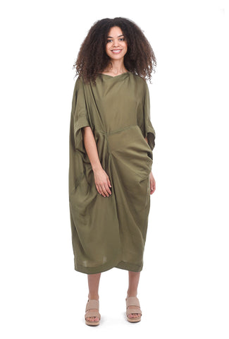 Moyuru Gallerist Dress, Leaf Green