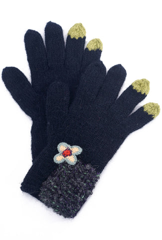 Little Journeys Gloves, Seurat Black