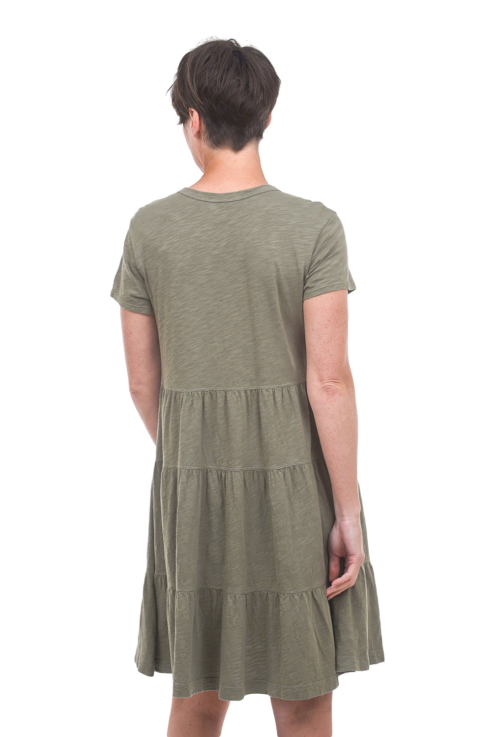Wilt Tiered Trapeze Dress, Cactus