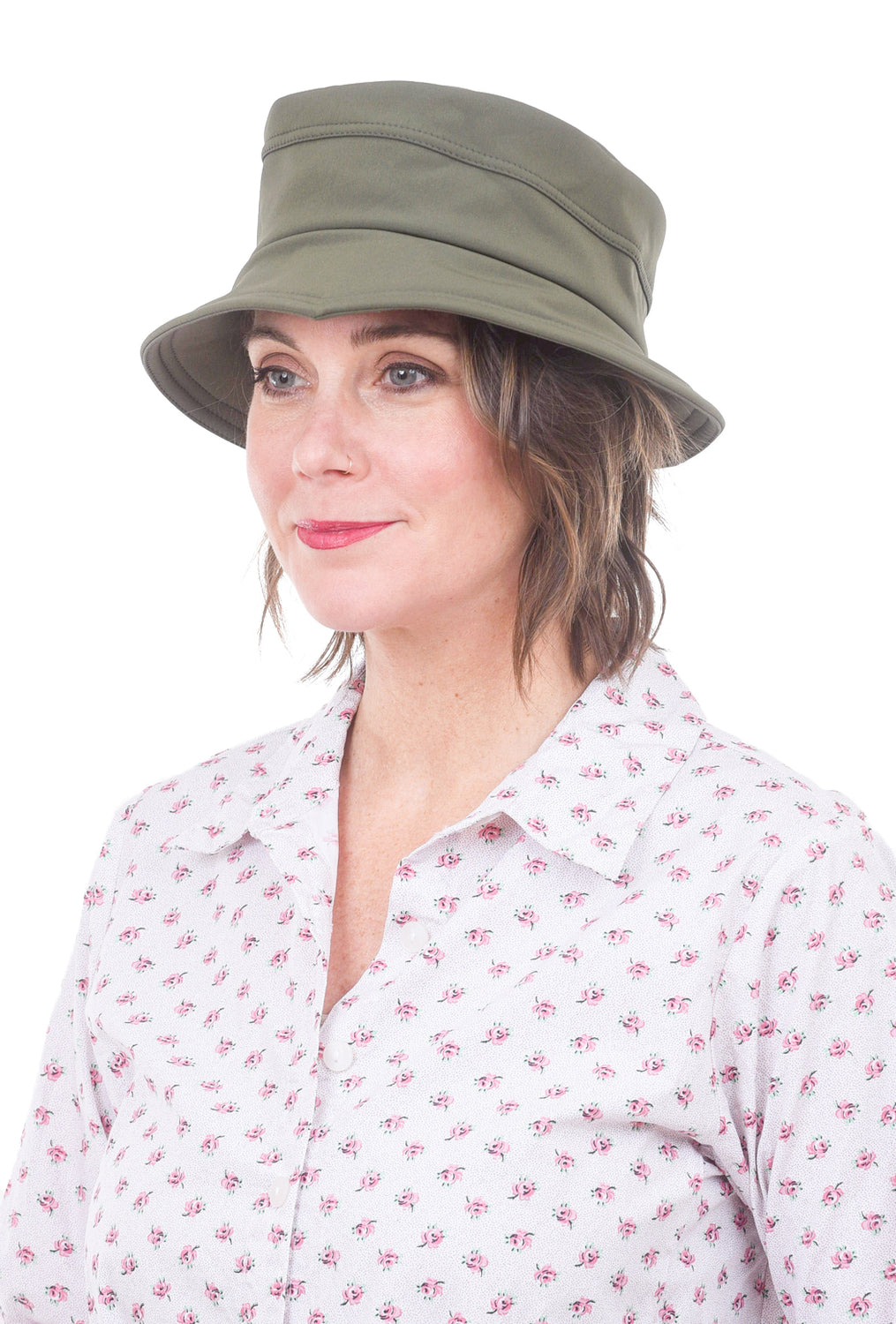 Lillie & Cohoe Hats Cloudburst Grace Hat, Olive