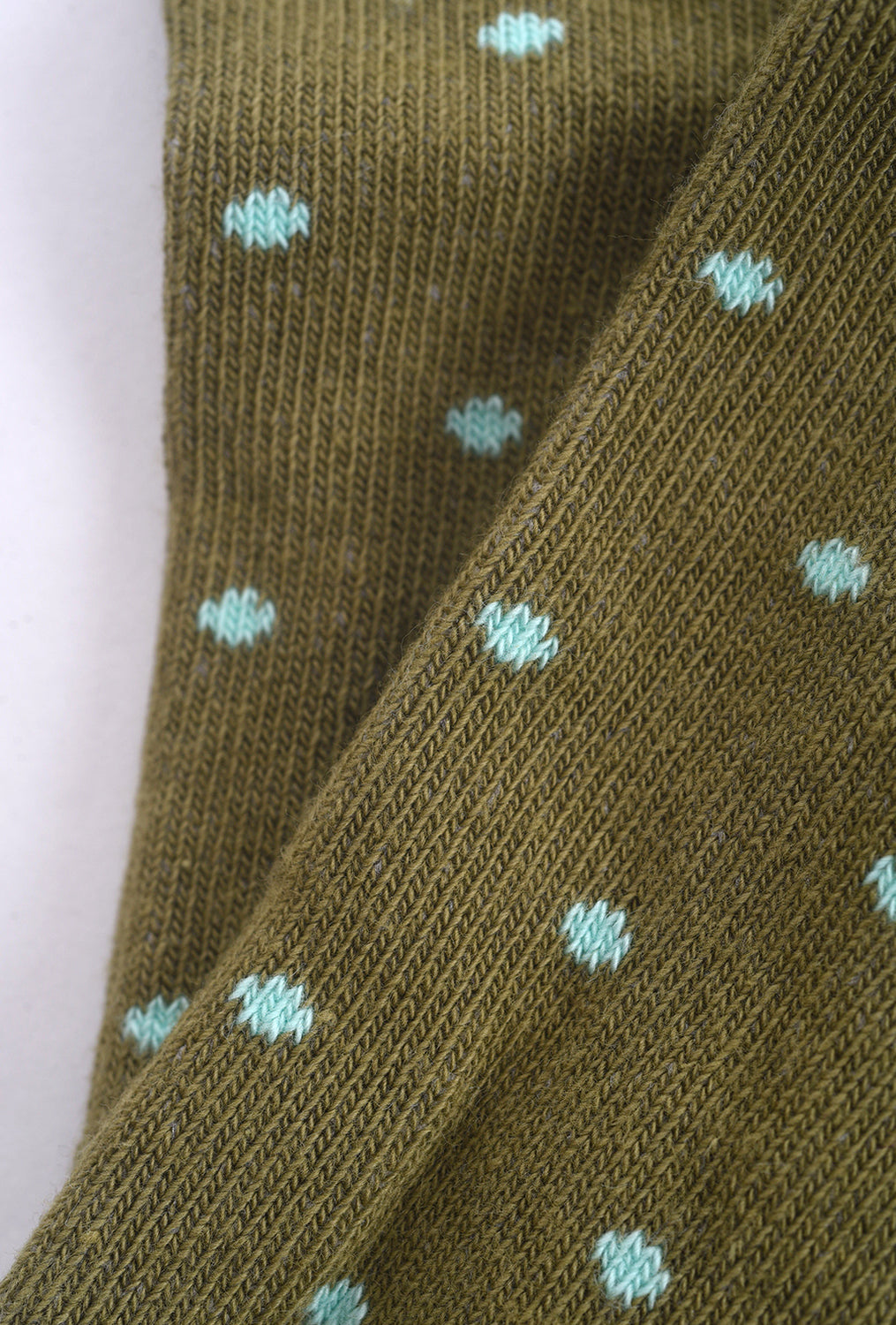 Little River Sock Mill Polka Dot Anklet, Peat/Green One Size Green