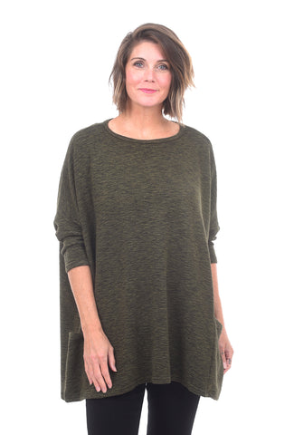 Cut Loose Crimped One-Size Pullover, Gris One Size Gris